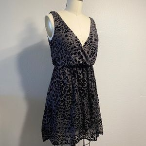 H&M Burnout Velvet Hi-Low Hem Dress Size 2